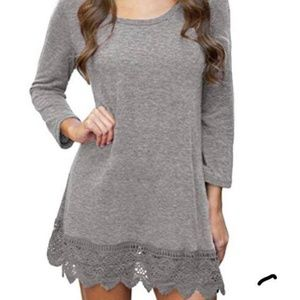 Dresses & Skirts - Grey Dress/Shirt Size Large *BRAND NEW*